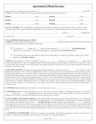 Sample House Lease Agreement Template Free Printable Rental Agreement House Lease Agreement Form Free 23