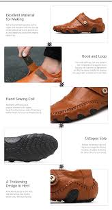 soft genuine leather rubber soles shoes brown 43