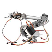 kdx diy 6dof aluminum robot arm 6 axis rotating mechanical robot arm kit with servos