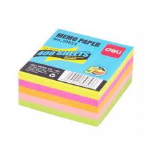Deli E39853 Sticky Notes Flourescent 5color 3x3 Pads