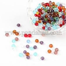 Faceted <b>Abacus</b> Transparent <b>Glass</b> Beads GLAA-R152-4mm-M1 ...