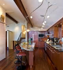 modern kitchen island track lighting