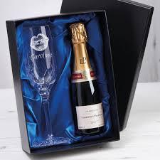 kiss design chagne flute set with 20cl chagne bottle