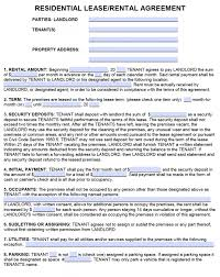 Residential Lease Agreements Free California Standard Residential Lease Agreement Template PDF 1
