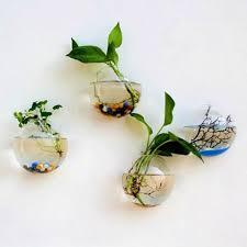 hanging plant flower glass ball vase terrarium wall fish tank aquarium decor uk