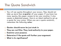 the quote sandwich from summer clip training ppt the quote sandwich