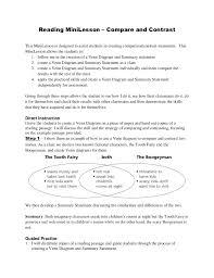 Venn Diagram Character Comparison Compare Contrast Mini Lesson