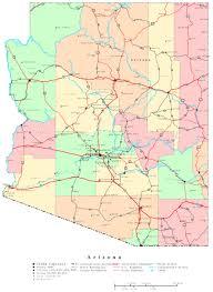 arizona printable map