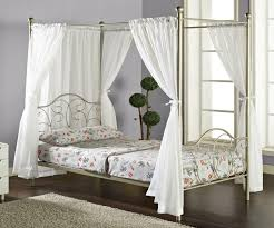 smart use of canopy bed drapes. Full Metal Princess Bed The We Furniture Canopy With Curtains Pewter Smart Use Of Drapes
