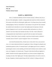 kant study resources 5 pages kant vs aristotle essay