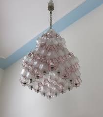 50039s italian vintage murano poliedri glass chandelier venini attr module 74