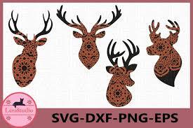 Hand fans egyptian, japanese and spanish free vector. Deer Head Mandala Svg Deer Svg Antler Svg Mandala Svg 236505 Cut Files Design Bundles