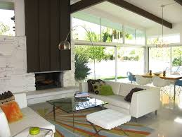 mid century modern fireplace design