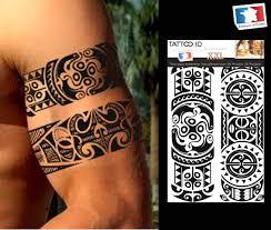 Tattoo Id Xxl Polinesia Tribal Maori Tatuaggio Temporaneo