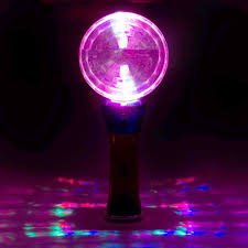 Disco Light Spinner Prismatic Globe Multi Color Led Flashing Disco Wand