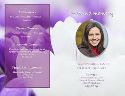 028 Free Funeral Program Template Microsoft Publisher