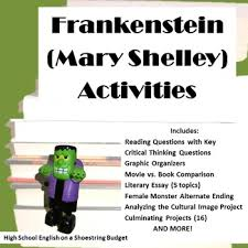 frankenstein activity bundle mary shelley pdf version by msdickson frankenstein activity bundle mary shelley pdf version
