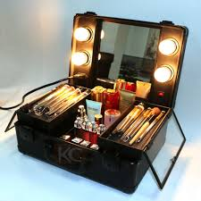 lighting rolling cosmetic case professional makeup case