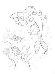 Little Mermaid Coloring Pages Free Mermaid Pictures To Color Little