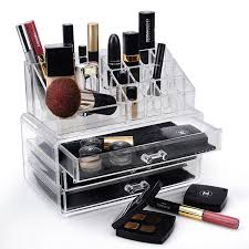 get ations home it clear acrylic jewelry organizer and makeup organizer cosmetic organizer and large 2 drawer