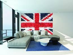 London Wallpaper Bedroom Union Jack Brick Wallpaper Mural Kool Rooms For Kool Kids