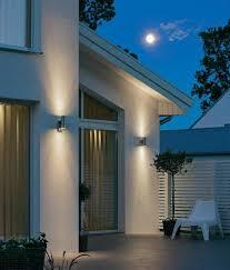 up down exterior pir light motion sensored choose stainless steel or raw galvanised steel