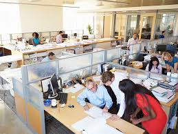 open office concept. open plan office concept