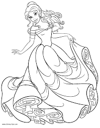 Beauty And The Beast Coloring Pages 2 Disneyclipscom