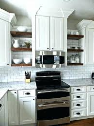 kitchen cabinet end shelf open cabinets shelving with shelves corn