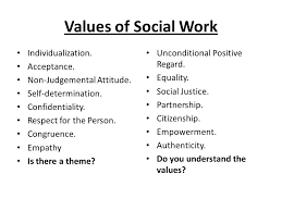 Social Work Values Values 2 What Is Social Work One Of The Things That Distinguishes A