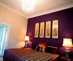 Purple Bedroom Color Schemes Violet Accent Wall Interior Design School Mesmerizing Solid