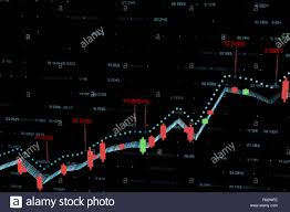 3d Stock Chart 3d Rendering Stock Chart With Black Background Stock Photo