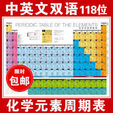 Chemical Elements Chart Usd 8 07 Chinese And English Bilingual Periodic Table Of