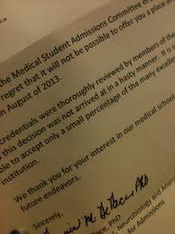 rejection going to med school my rejection letter from drexel