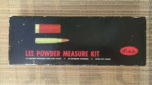 Details About Original Lee Powder Measure Kit With Slide Chart