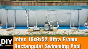 Intex Pool Gallons Chart Intex 18x9x52 Ultra Frame Rectangular Swimming Pool Installation