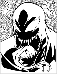 Or you can also color online on our site with the interactive coloring machine. Marvel Villains Venom Books Adult Coloring Pages