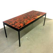 tile top dining table. Tile Top Dining Table Handmade With By Wilhelm And Elly Kuch 1 Graceful S