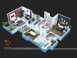 floor plan 3d. Apartment Second Floor 3d Plan View