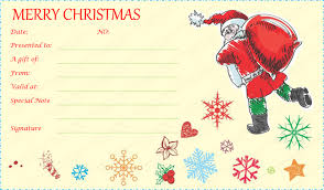 christmas gift card templates free template for gift certificate search result 216 cliparts for