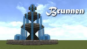 Minecraft Water Fountain Designs Minecraft Tutorial Brunnen Bauen Build A Fountain