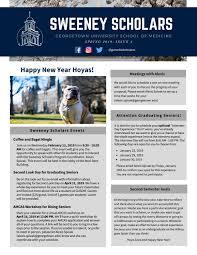 Sweeney Scholar Newsletter Winter 2019 by Georgetown University ...
