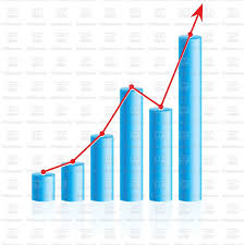 Chart Business Rising Up Business Bar Graph Stock Vector Image