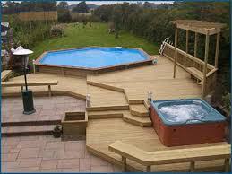 amazing large above ground pool with deck new idea design and decor pond swimming uk spa step canada ladder fuel tank
