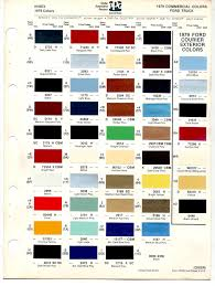 64 Curious Ford Blue Paint Chart