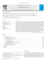 pdf thyroid function in childhood obesity and metabolic orbidity