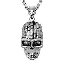 men s women s skull shape personalized hip hop pendant necklace stainless steel pendant necklace ceremony club 06271453