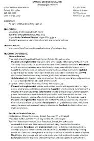 Sample Childcare Resume Best of Early Childhood Educator Resume Examples Early Child Care Resume