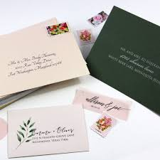 Addressed And Printed Wedding Envelope Samples From Lci