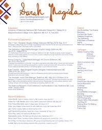 Resume Sarah Magida Designssarah Magida